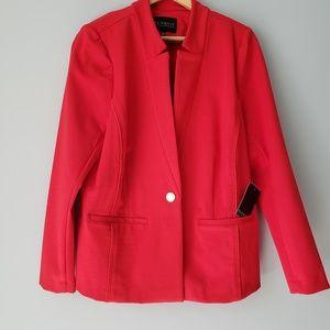 Red Eloquii Blazer